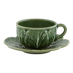 Cabbage Set of 4 tea cups, 30cl - 15.5 x 7.5cm, green