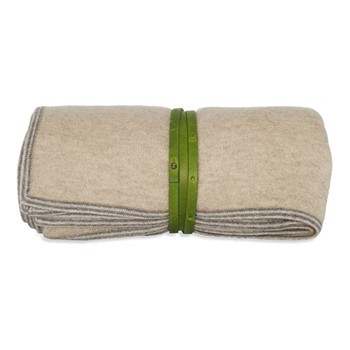 Toscani Travel throw, 180 x 120cm, beige/green