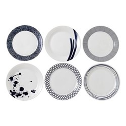 Pacific Set of 6 dinner plates, 28cm