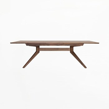 Cross Extending walnut dining table, H75 x W200 x D100cm, walniut