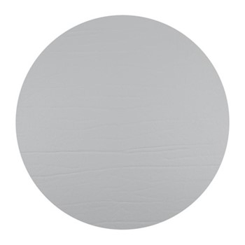 Round leather placemat, D33cm, silver