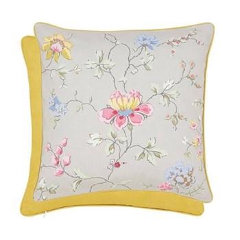 Fleuri Cushion, L40 x W40 x H10cm, grey