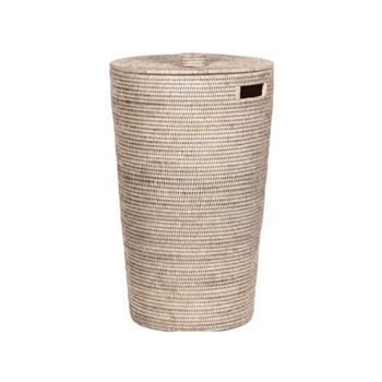 Ashcroft Laundry basket, D40 x H67cm, rattan
