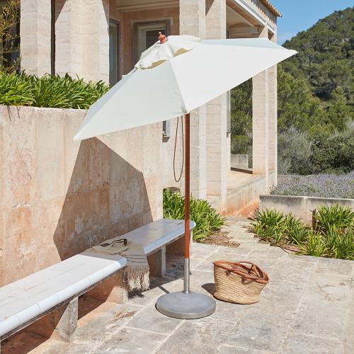 Capri Parasol foot, Dia50 x H43, Concrete/Stainless Steel