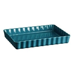 Calanque Set of 3 rectangular tart dishes, L31 x W29cm - 240cl, blue