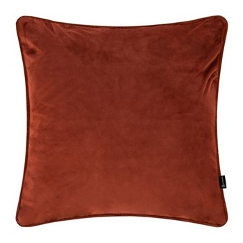 Velvet cushion, W45 x L45cm, burnt sienna