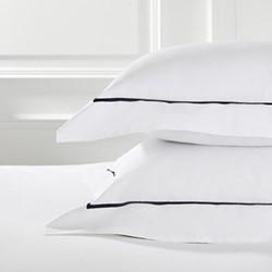 Savoy - 400 Thread Count Square oxford pillowcase, 65 x 65cm, navy