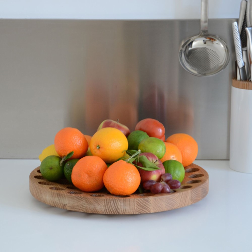 Geo Fruit bowl, H4.5 x W36cm, Oak