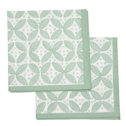 Berry Set of 4 napkins, 45 x 45cm, green cotton