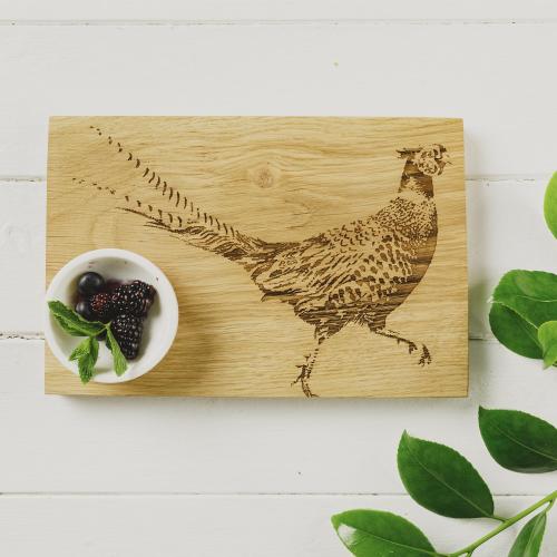Pheasant Serving board, L30 x W20 x H2cm, oak