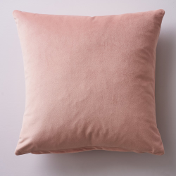 Albion Velvet cushion, 45 x 45cm, Blush
