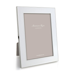 """Enamel Range Photograph frame, 5 x 7"""" with 24mm border, White With Silver Plate"""