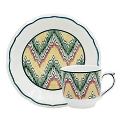 Dominoté - Louis XIII Pair of espresso cups and saucers, 14cm - 8.5cl