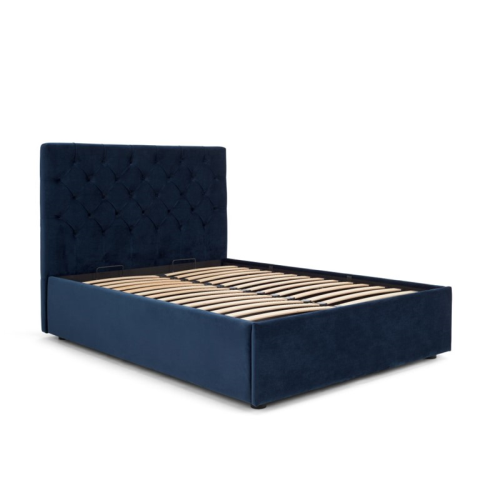 Skye King size bed with storage, H128 x W165 x D213cm, Royal Blue