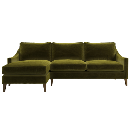 Iggy Left hand facing chaise sofa, H91 x W239 x D95cm, Olive