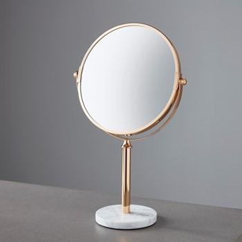 Mirror, L21 x W11 x D36cm, gold/marble