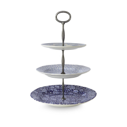 Asiatic Pheasants/Calico/Felicity 3 tier cake stand, Blue