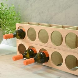 Wine O Five Wine storage, H12 x W54 x D12cm, oak