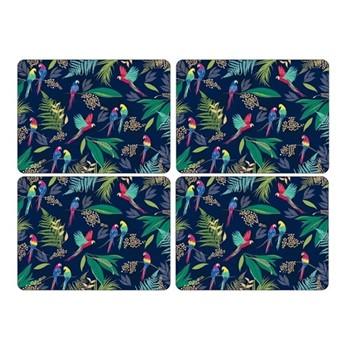 Parrot Set of 4 large placemats, 40.1 x 29.8cm