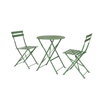 Rive Droite Bistro set, small, greengage steel