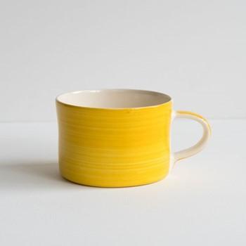 Plain Wash Set of 6 mugs, H7 x W10.5cm, turmeric