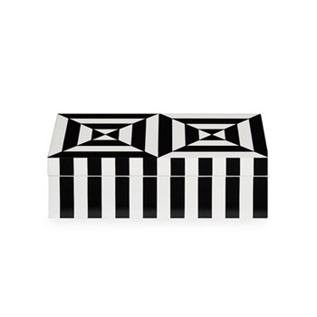 Op Art Box, small, Black/White