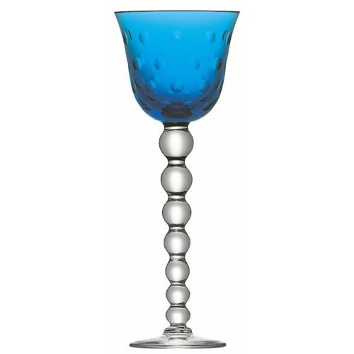 Bubbles Hock glass, sky blue