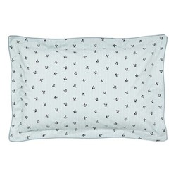 Little Leaf Oxford pillowcase, L48 x W74 cm, blue