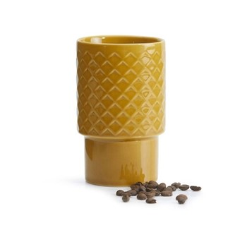 Coffee & More Large stackable mug, 40cl, yellow
