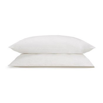 Organic Classic - 400 Thread Count Pair of super king size pillowcases, W52 x L92cm, white