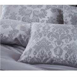 Damask Jacquard Pair of housewife pillowshams, 50 x 75cm, Silver