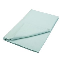 200TC Plain Dye Super king size flat sheet, L260 x W315cm, jade