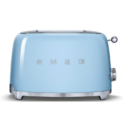 50's Retro 2 slice toaster, Pastel Blue
