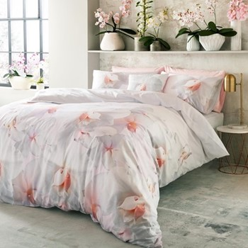 Cotton Candy King size quilt cover, 228 x 218cm, pink