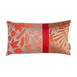 Falling Leaves Cushion, H30 x W50cm, pebble/chilli ombre