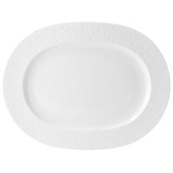 Ecume Oval platter, 35cm, white