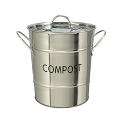 Compost pail, 26 x 20cm, stainless steel