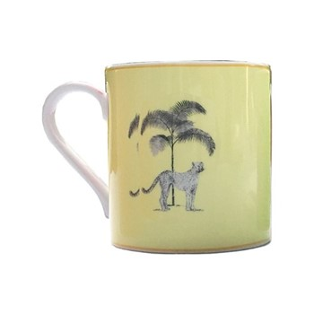 Harlequin - Yellow Cheetah Mug, yellow