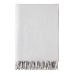 Cashmere throw, 190 x 140cm, pearl grey