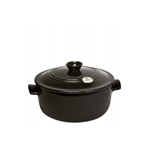 Round casserole with lid, 26 x 26 x 17cm - 4.0 Litre, Charcoal