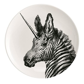 You'Re Magic Plate, Dia25.5cm, black/white