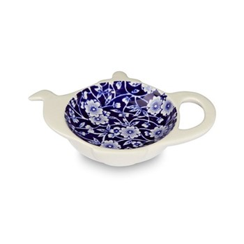 Calico Teapot tray mini, H2.5 x W13.5 x D10cm, blue