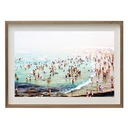 Bondi Beach by Louisa Seton Framed fine art photographic print, H41 x W57 x D3.3cm, walnut frame