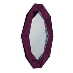 Diamond Extra large wall mirror, L82 x H140 x D6.7cm, silver/burgundy/midnight