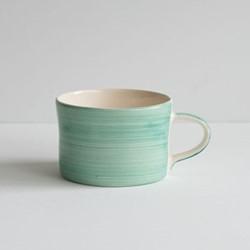 Plain Wash Set of 6 mugs, H7 x W10.5cm, mint