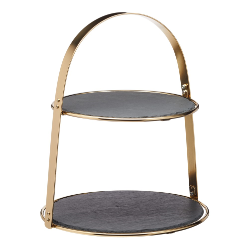 Arch frame serving stand, 29.5 x 35cm