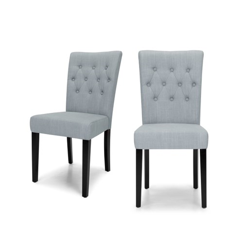 Flynn Set of 2 dining chairs, H95 x W45 x D61cm, persian grey