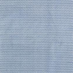Herringbone Woven cotton rug, W122 x L183cm, Denim/Ivory