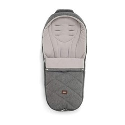 Cold weather footmuff, grey twill