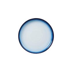 Blue Haze Coupe dessert plate, 21 x 2.5cm